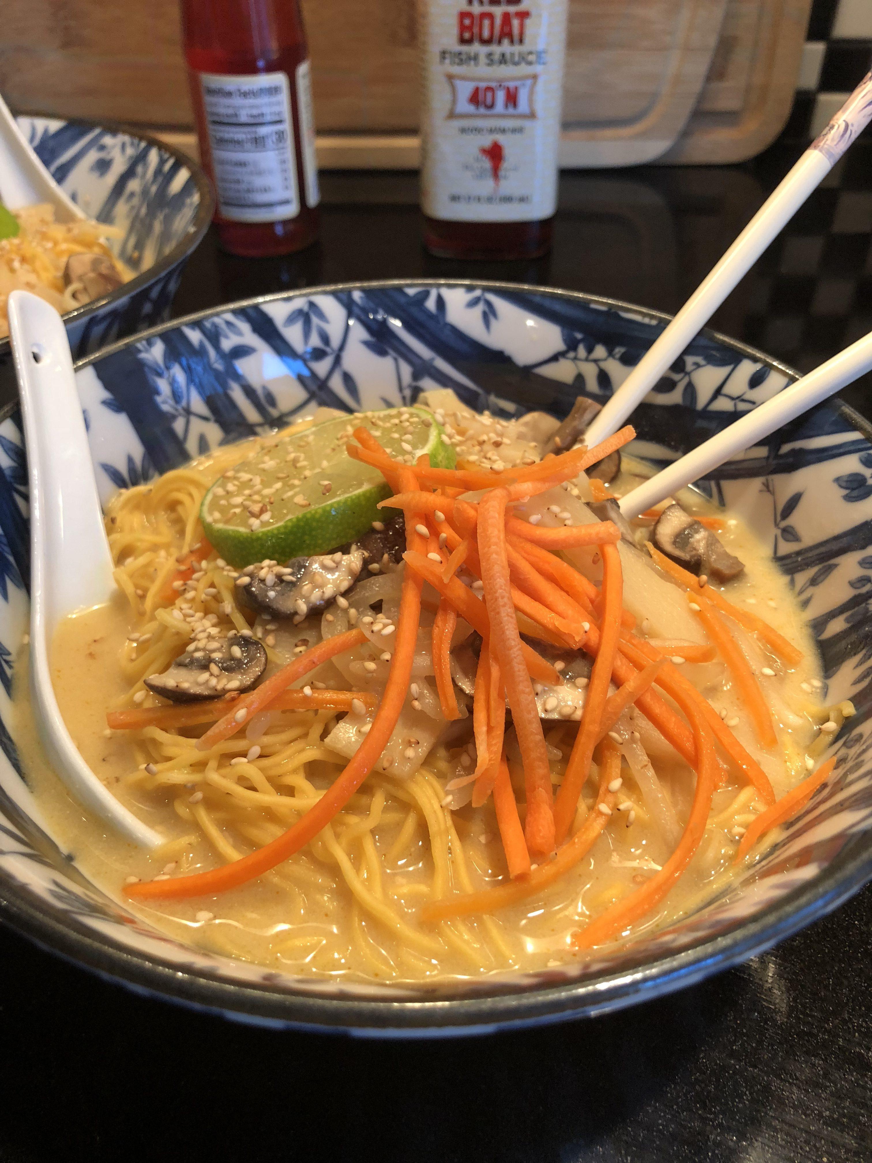 Tom Kha Noodle Soup